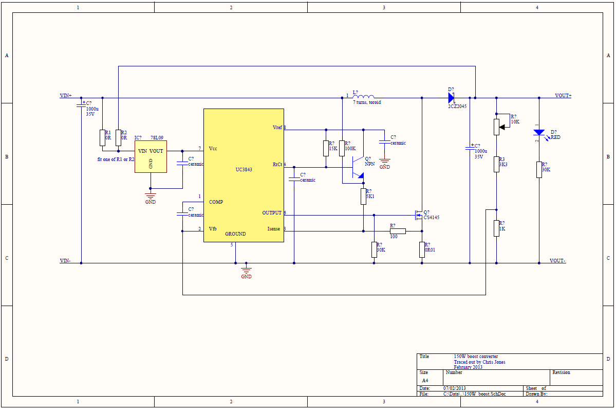 150w Boost Converter Schematic Martinjonestechnology More Led Circuits Regulator