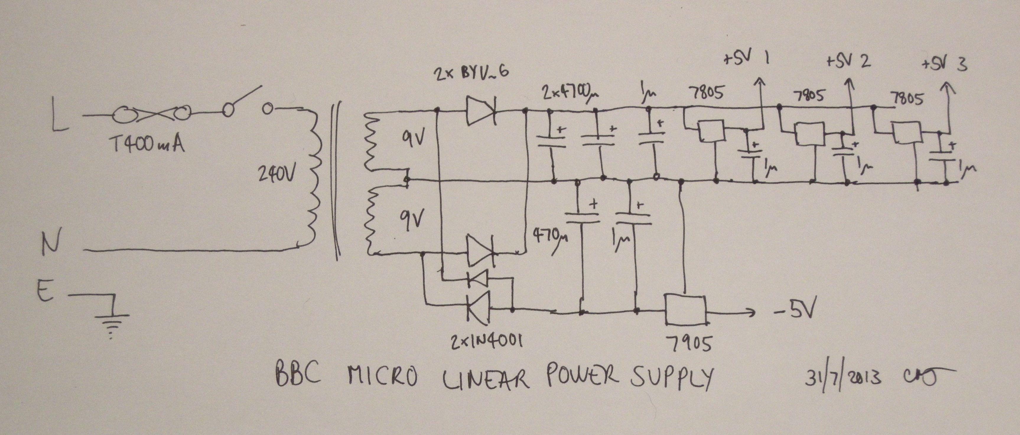 The Bbc Micro Linear Power Supply Martinjonestechnology Wiring Diagram Dscn8952