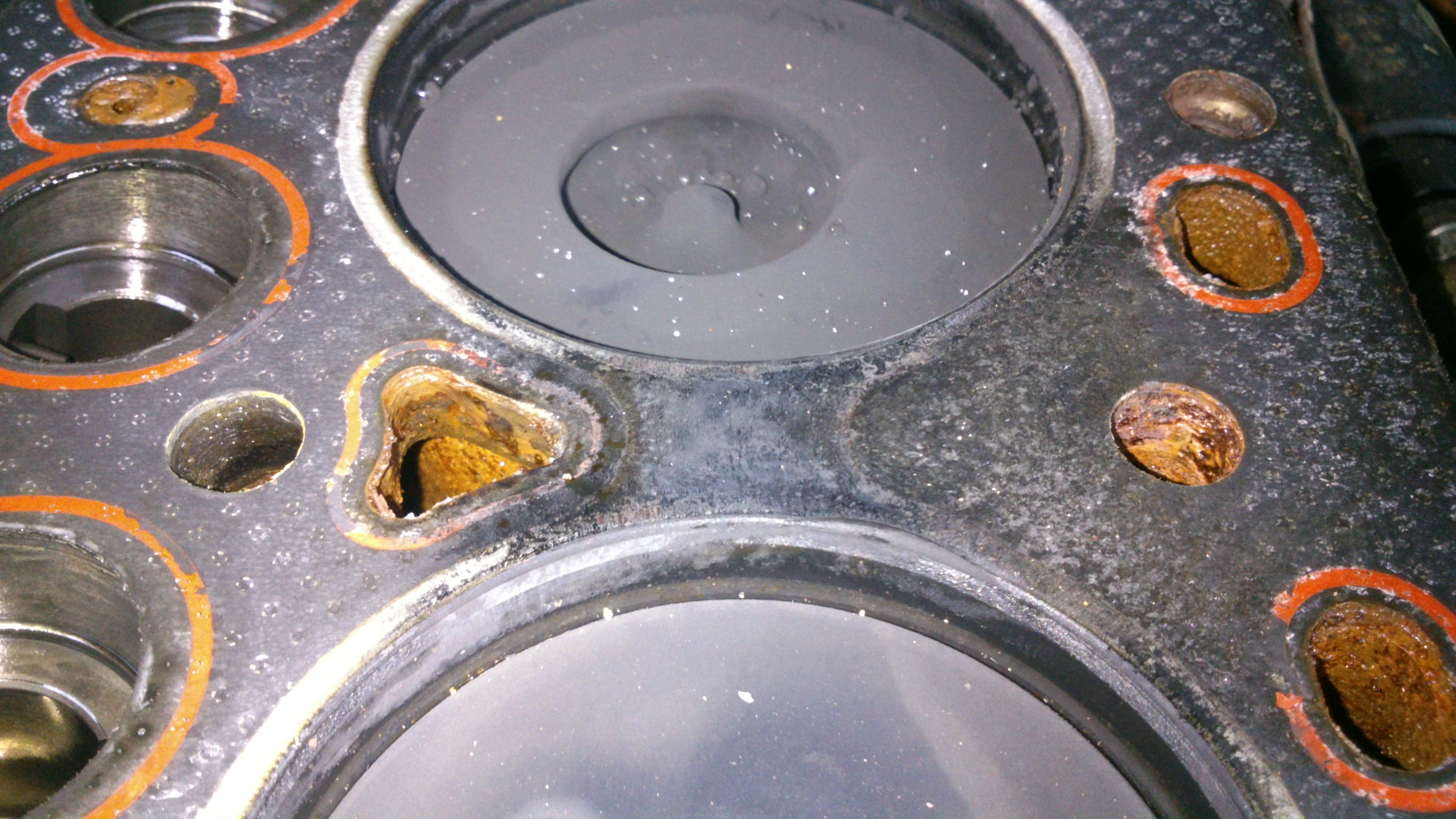 What is damaged in an engine when it overheats?
