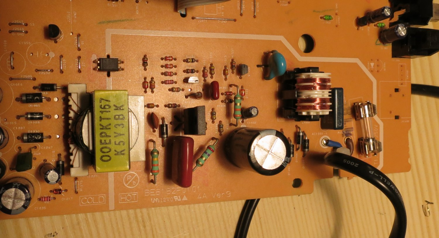 Denon DVD-1720 DVD player power supply schematic and repair